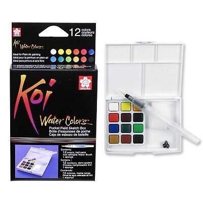 Sakura Koi Water Color Field Sketch Travel Kit XNCW-12H Drawing Art | 12 Colours