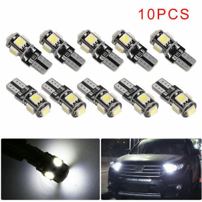 10stk.T10 194 168 W5W 5SMD 5050 LED 12V Auto Leselampe Innenraumbeleuchtung Weiß