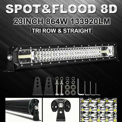 OSRAM 24INCH Led Work Light Bar 3 Row 864W Combo For 2005 Ford f-150 Offroad 22""