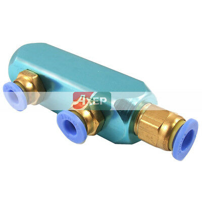 Air Hose Fitting 6mm to 8mm 3 Way Push in to Connect Quick Coupler