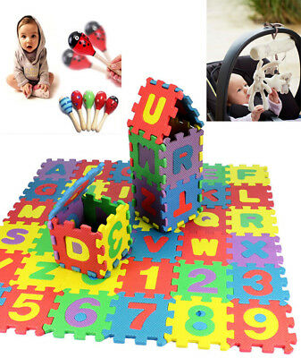 36X Educational Toy Soft Bubble Baby Kids Boy Girl Alphanumeric Puzzle Blocks UP