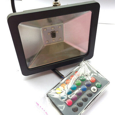 10/20/30w Exterior Impermeable FOCO PARED PROYECTOR LED 7 RGB COLORES CAMBIO