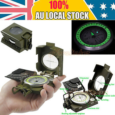 NEW Professional Military Army Metal Sighting Compass Clinometer Camping Hiking