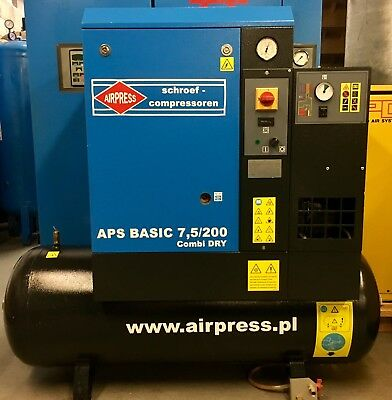 ABAC Spinn 5.510 Rotary Screw Compressor With Dryer! Immaculate! 5.5Kw Low Hours