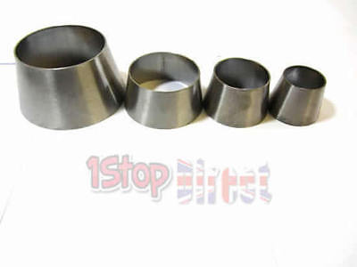 """Stainless Steel  4/"""" to 2.5/"""" Custom Exhaust Cone 101mm x 63.5mm Joint Reducer"""