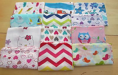 Premium Quality Large Muslin Squares ~80~ Modern Designs Perfect Gift Made In Eu