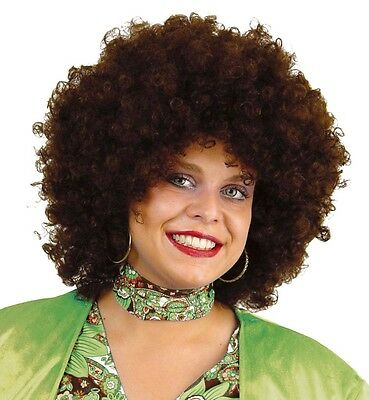Afro Chico Perücke Hair braun 70er Locken Flower Power Lockenkopf 123564213