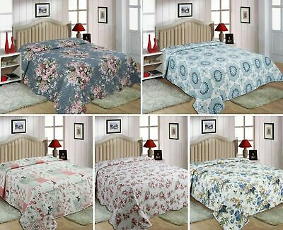 Queen/King/Double sizes 100% Cotton quilted 3 piece Bedspread
