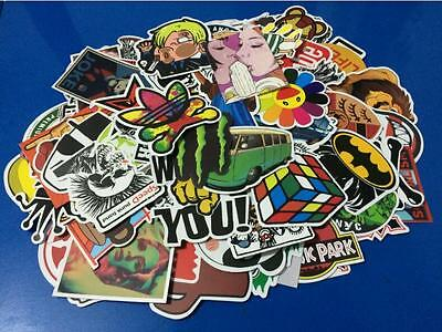 10pcs Skateboard Vinyl Sticker Skate Graffiti Laptop Luggage Car Bomb Decal Lot