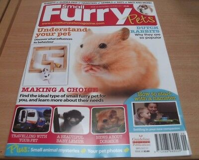 Small Furry Pets magazine Sep/Oct 2017 Dutch Rabbits Baby Lemur Dormice + Travel