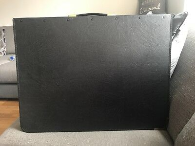 black leather A2 art folder
