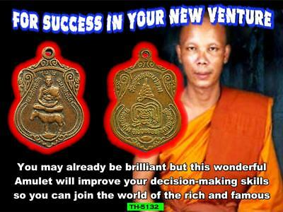"""""""for Success In Your New Venture"""" Th-5132  Magic Thai Authentic Holy Amulet"""