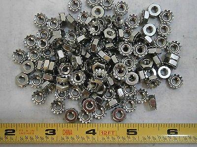 Keps Nuts 8/32 Stainless Steel Lot of 18 #3891A