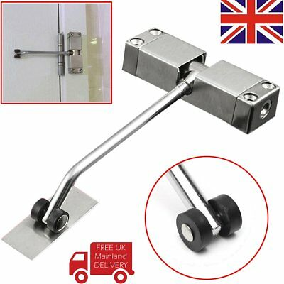 NEW Surface Mounted Auto Door Closer Fire Rated Closing Adjustable Spring Loaded
