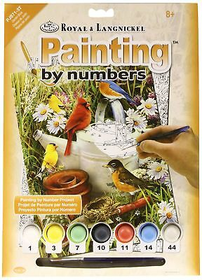 Royal & Langnickel Garden Birds Design Paint by Numbers Kit