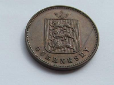 Guernsey 1858 4 Doubles  Excellent collectable coin close uncirculated condition