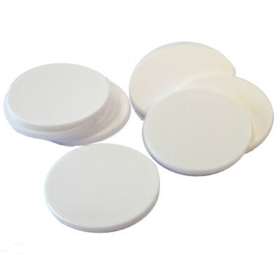 Plain Plastic Tokens - 38mm White - Great for events or voting boxes, 10, 50+