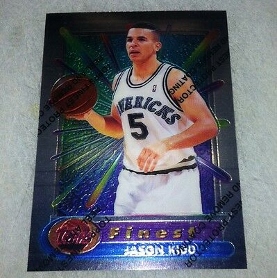 Jason Kidd 1994 95 Topps Finest Rookie Card With Coatingpeel Rc