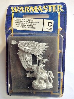 Games Workshop Warmaster Empire Hero on Griffon BNIB OOP RARE *Free shipping*