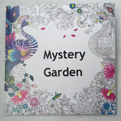 English Adult Secret Garden Mystery Treasure Hunt Coloring Book