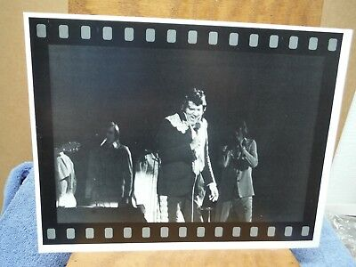 Elvis Presley Singing His Heart Out Picture Framed Like Film