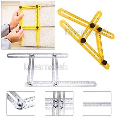 Stainless Steel / ABS Measuring Tool Multi-Angle Template Instrument Scale Ruler