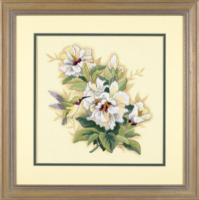 Dimensions - Crewel Embroidery Kit - Hibiscus - Flower - D01544