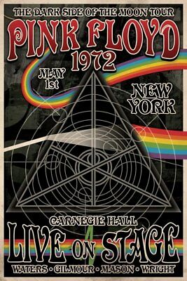 Pink Floyd 1972 Poster Tour Music Carnegie Hall Print Classic Band 70's NEW