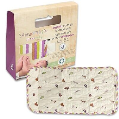 "1 Janey Baby Organic Portable Change Pad 100% Organic Cotton (23"" x 12"")"