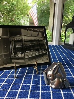 Rare Vintage Flop-Eared Bunny Metal Chocolate Mold USA Antique 1930's-40's