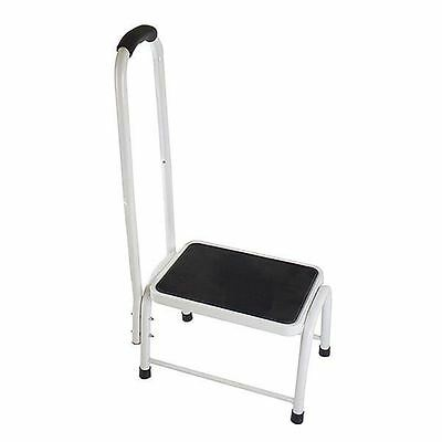 New Step Stool With Fixed Handrail And Soft Grip Bathroom Kitchen Living Room