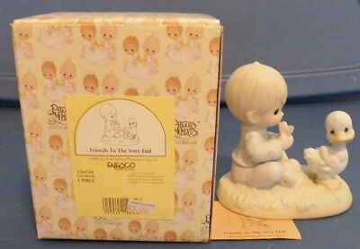 Friends to the very end Precious Moments 1994 boy duck 526150
