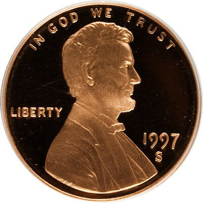 1997-S Proof Lincoln Memorial Cent Penny Deep Cameo , FREE SHIPPING!