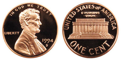 1994-S Proof Lincoln Memorial Cent Penny Deep Cameo , FREE SHIPPING!