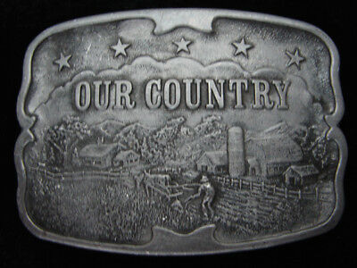 Qc01152 Vintage 1976 **our Country** (Supersweet Feeds 25 Years) Belt Buckle