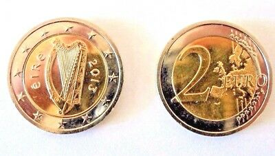 Genuine Irish Currency 2 Euro €2 Coin Eire Celtic Harp From Ireland