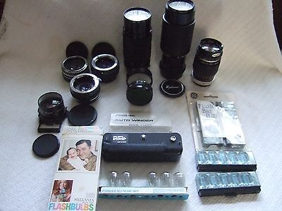 Vintage Large Mix Lot Of Photo Items Lenses And More - Good Value For Money+++++