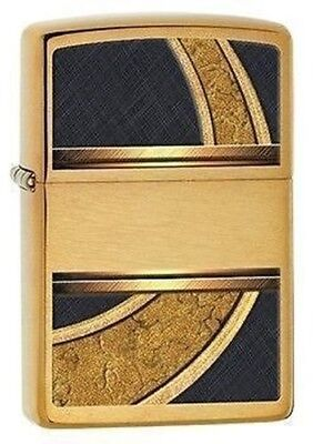 Zippo Lighter - Gold And Black Brushed Brass