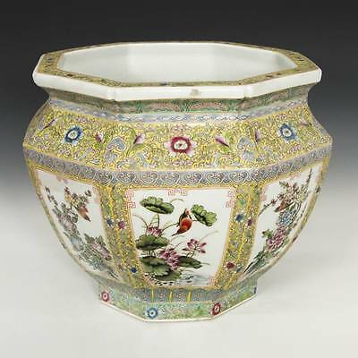 Chinese Qing Porcelain Famille Rose Jardiniere Qianlong Mark Ceramics China