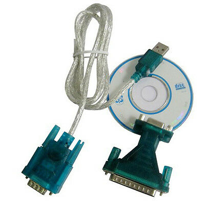 USB to RS232 9 Pin Male Cable RS232 and 9Pin Female to RS232 25 Pin Male Adapter