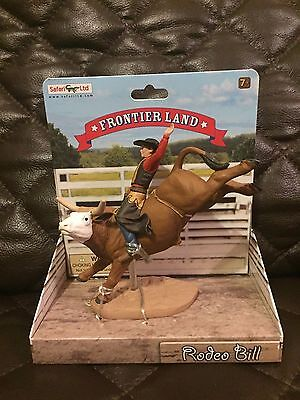 Safari Ltd. RODEO BILL BULL RIDER 820529 Retired - Brand New