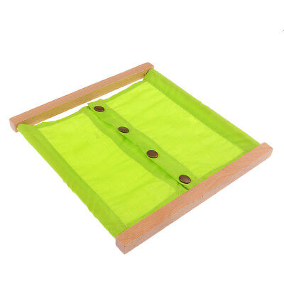 Montessori Small Buttons Dressing Frame Daily Life Practical Material Wooden