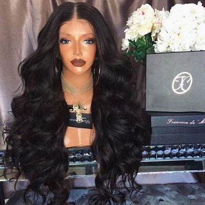 Brazilian100% Lace Front Wigs With Baby Hair Glueless Full Hair Wig 20-26inch