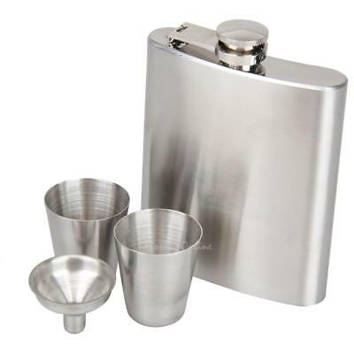 7oz Stainless Steel Hip Flask Pocket Liquor Whiskey Alcohol Bottle w/ Funnel Cup