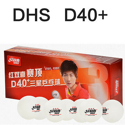 DHS New material D40+  3 star seamed  table tennis ball  2boxes/lot 20pcs