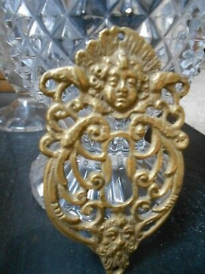 FRENCH GORGEOUS ANTIQUE BRONZE Putty Grotesque  Escutcheon Plate