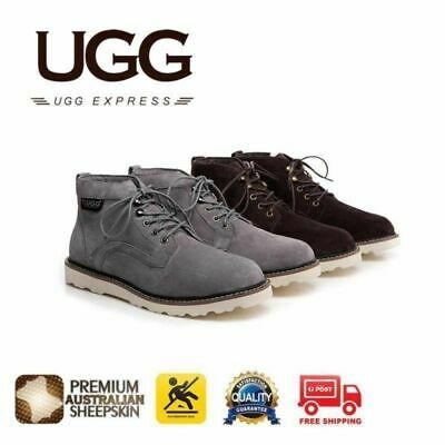 UGG Mini Boots Mens Treadlite Lace up Shoes Louis - Australian Sheepskin Inner,