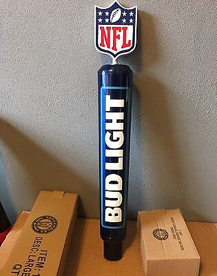 "Bud Light NFL Tall Beer Tap Handle 16"" Brand NEW in Box Lot !!!"