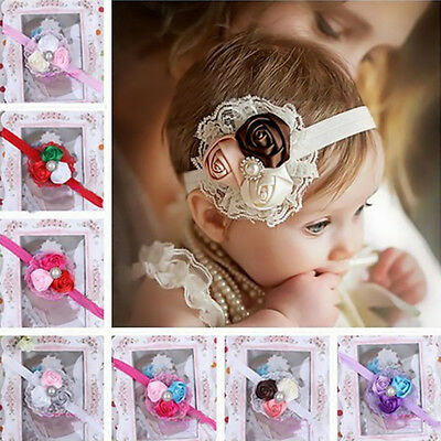 Cute Kids Baby Girl Toddler Lace Flower Hair Band Head War Headband Accessories