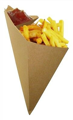 20x Frites Chip Cone With Sauce Holder, Food container, fries popcorn